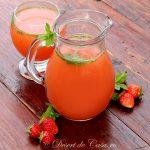 Suc de fructe cu menta