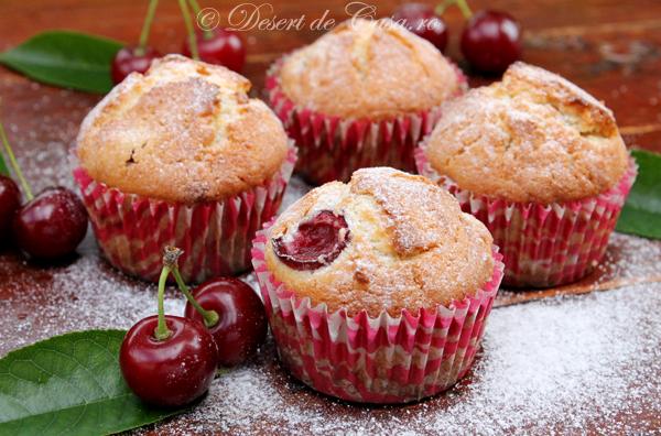 Muffins cu visine