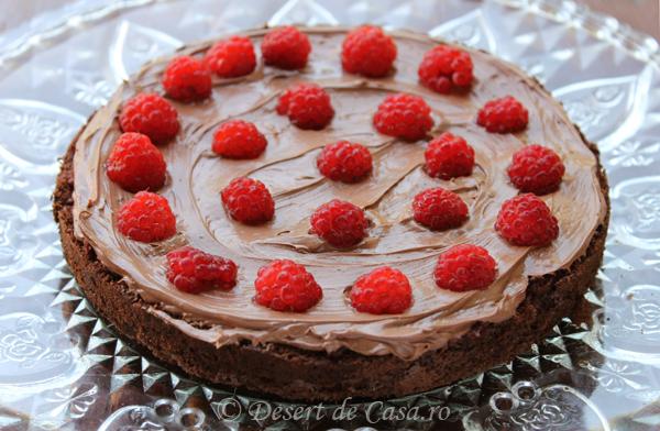 tort cu ciocolata si zmeura 3