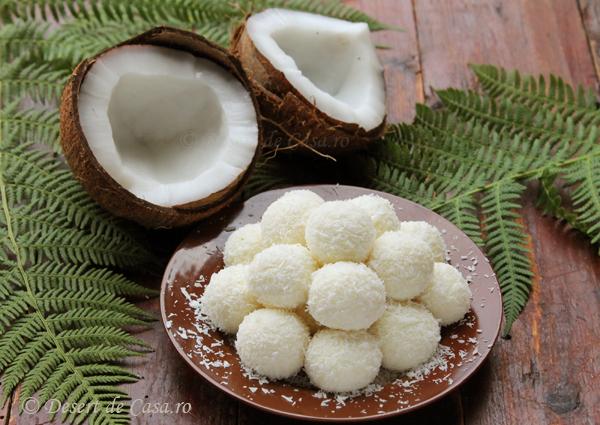 Bomboane cu nuca de cocos (Raffaello)