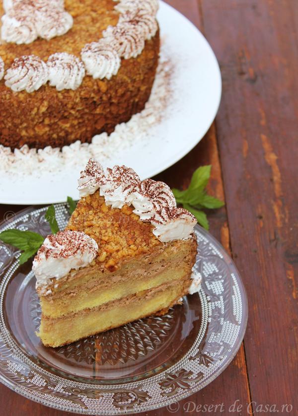 tort cu nuca coapta si ciocolata