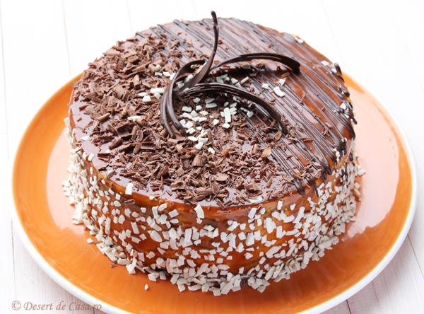 tort caramel in imagini