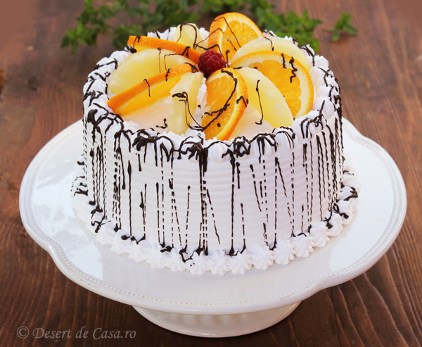 Tort diplomat cu ananas si portocale