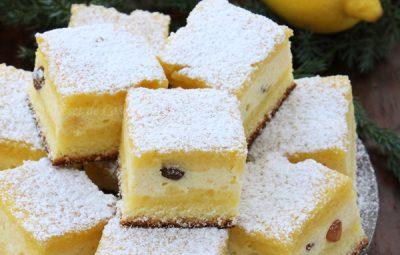 prajitura cu branza dulce si stafide 2