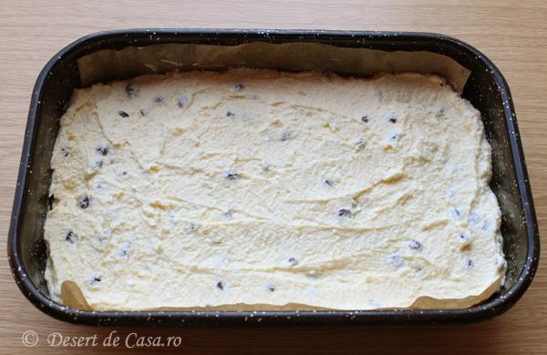 prajitura cu branza dulce si stafide (6)