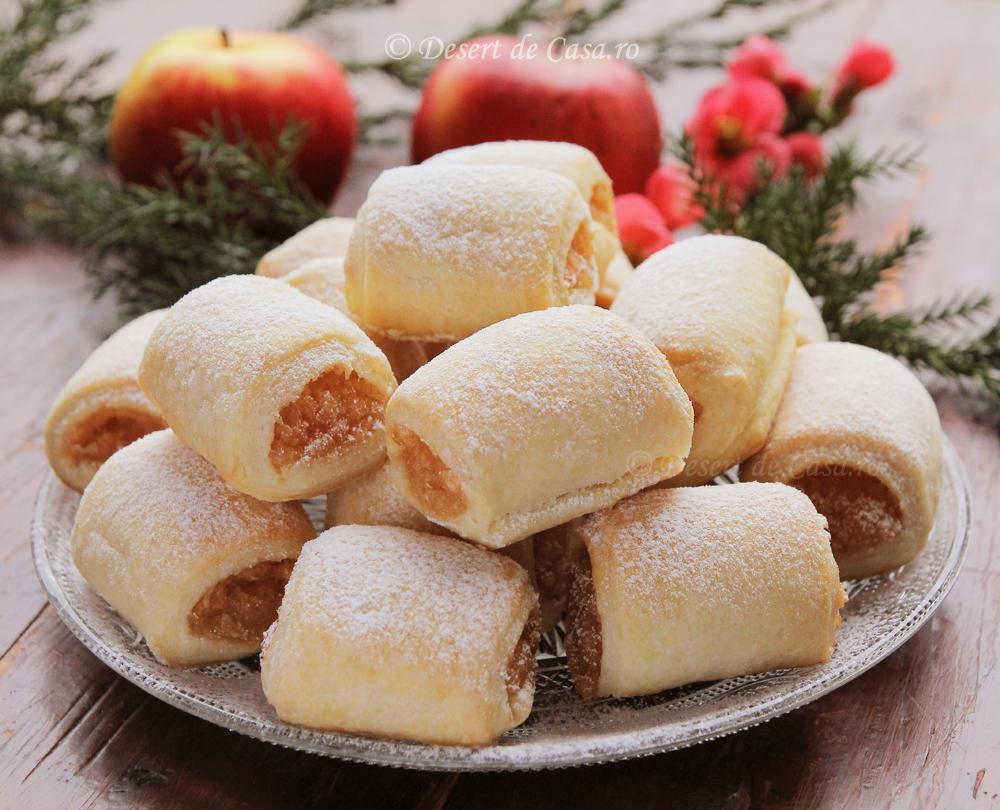 Mini strudele cu mere