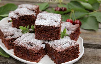 prajitura cu ciocolata si cirese