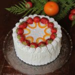 Tort cu ananas, capsuni si portocale
