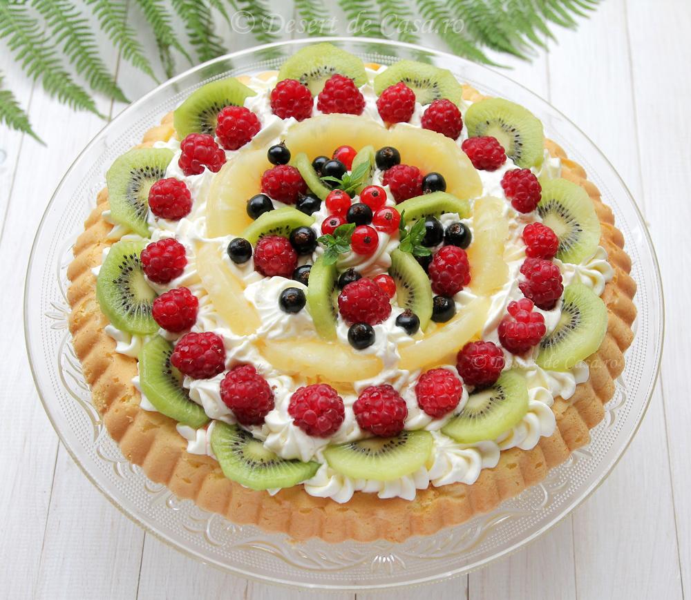 tarta cu fructe imagine