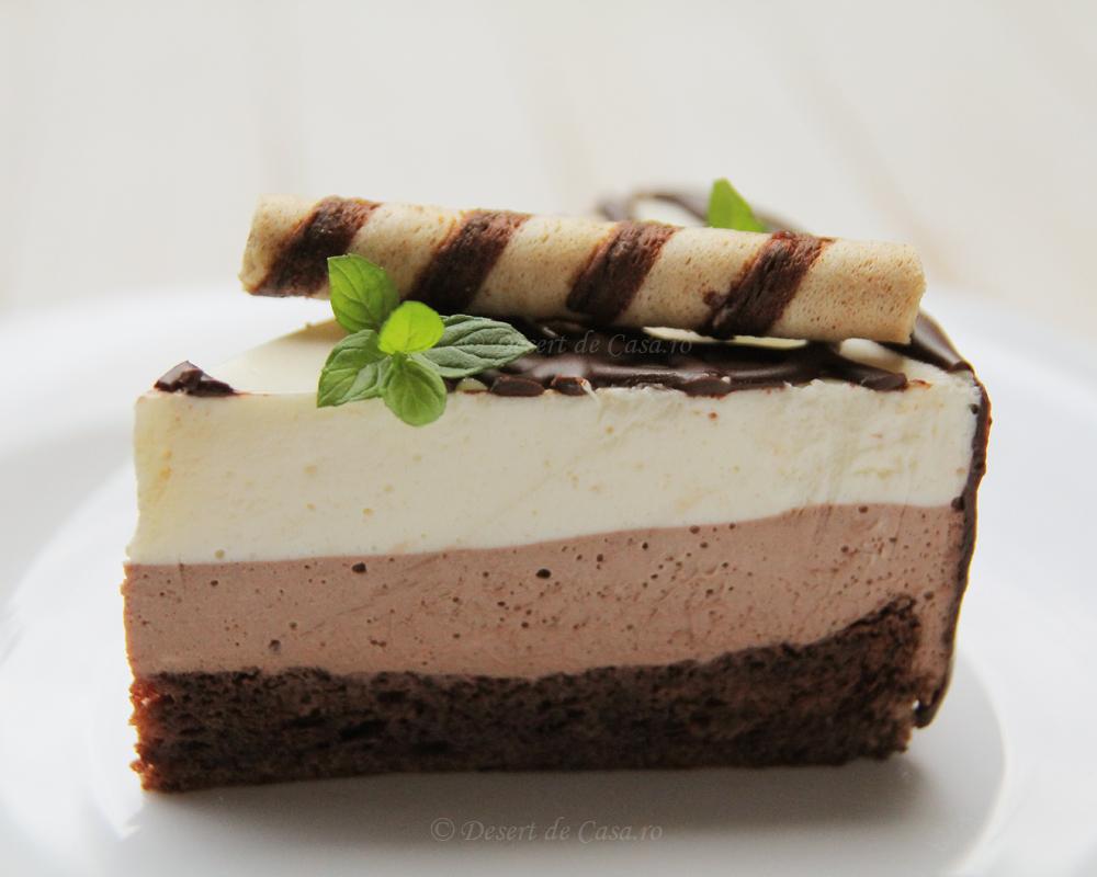 Tort cu mousse de ciocolata desert de casa maria popa for Ciocolata de casa reteta clasica
