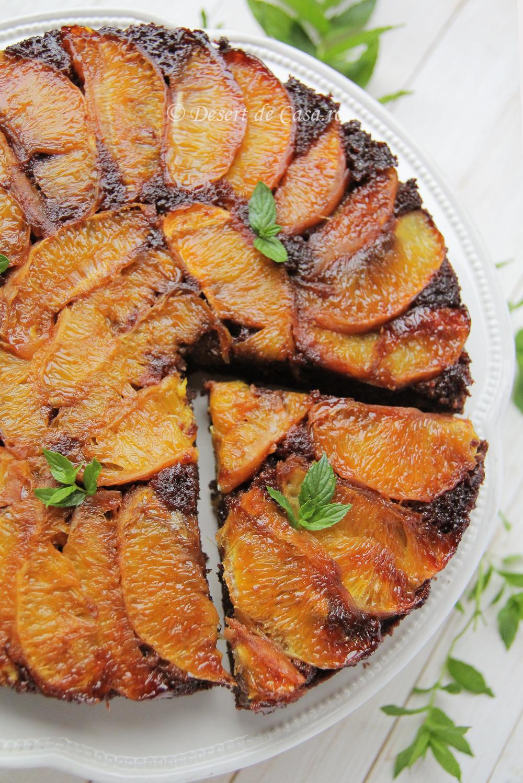 Prajitura rasturnata cu portocale si caramel