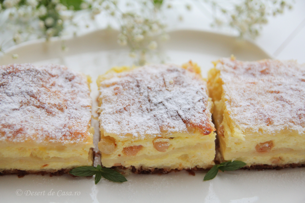 placinta cu branza dulce si stafide (2)