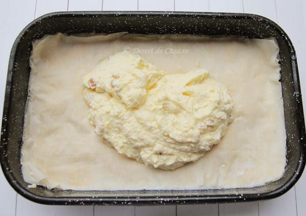 placinta cu branza dulce si stafide (5)