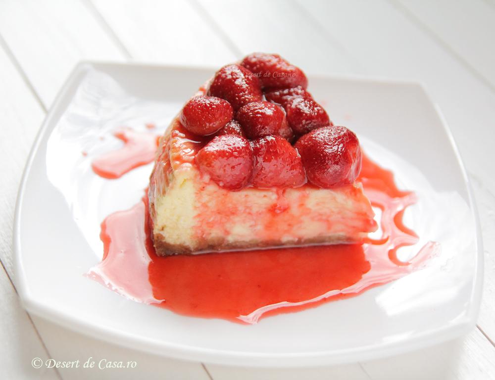 Cheesecake cu capsuni in imagini