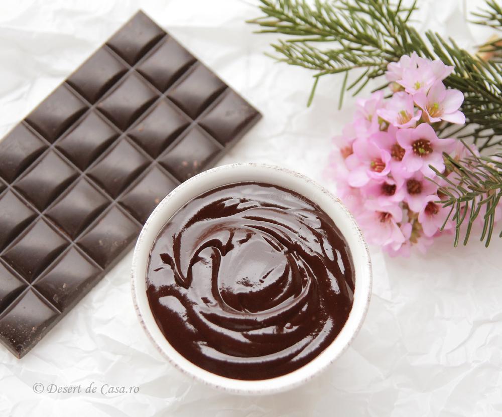 Crema rapida de ciocolata ( de post)