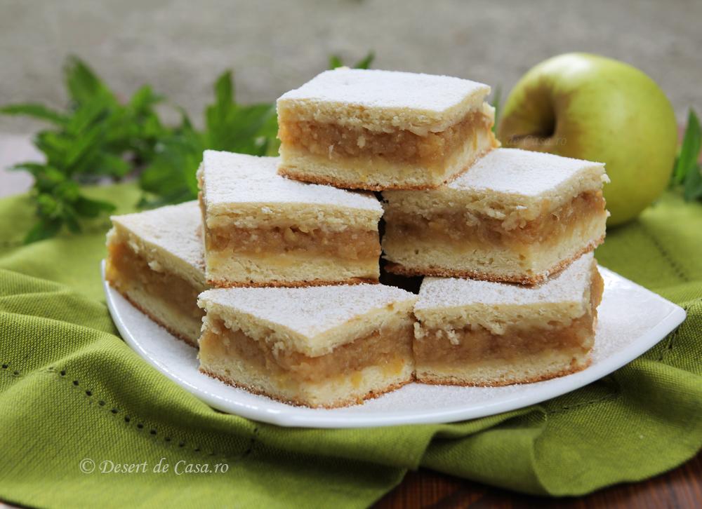 Prajitura cu mere si aluat fraged