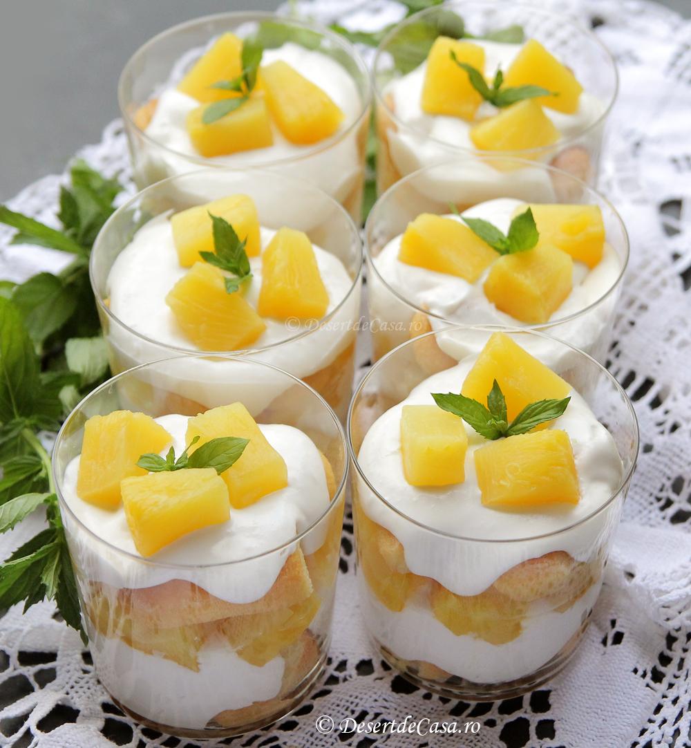 Tiramisu cu ananas ( fara ou)