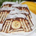 Prajitura cu biscuiti si banane