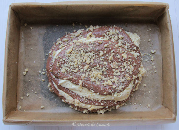Prajitura cu nuca si cacao
